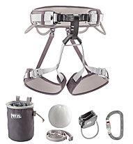 Petzl Kit Corax - imbrago + accessori arrampicata, Grey