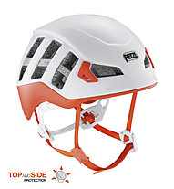 Petzl Meteor - casco arrampicata e scialpinismo, White/Orange