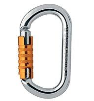 Petzl OK Triact-Lock Karabiner, Grey/Orange