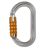 Petzl OK Triact-Lock - moschettone, Grey/Orange
