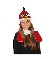 PinkYak Fire Bird mit Schal, White/Red