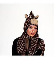 PinkYak Giraffe mit Schal, Brown/Black
