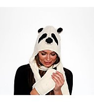 PinkYak Panda mit Schal, White