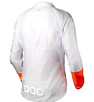 Poc Avip Light Wind Jacket Giacca a vento bici, White/Orange