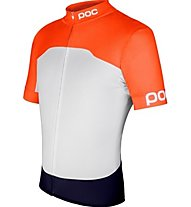 Poc Avip Printed Light Jersey - Fahrradshirt, White/Orange