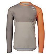Poc MTB Pure LS Jersey - maglia a maniche lunghe - uomo, Orange/Grey