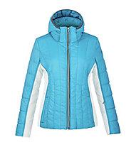 Poivre Blanc Jacket Jr Girl 1004 Giacca da sci con cappuccio Bambina, Blue Lagune/White