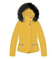 Poivre Blanc Stretch Ski 0802 JRGL Kinder-Skijacke für Mädchen, Radium Yellow