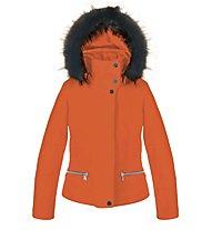 Poivre Blanc Stretch Ski 0802 JRGL Kinder-Skijacke für Mädchen, Fusion Orange