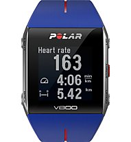 Polar V800 HR - orologio GPS, Blue/Red