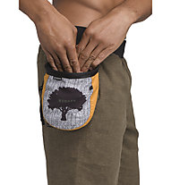 Prana Graphic Chalk Bag with Belt - portamagnesite, Grey/Yellow