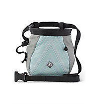 Prana Large Women's Chalk Bag with Belt - portamagnesite - donna, Light Blue/Light Grey