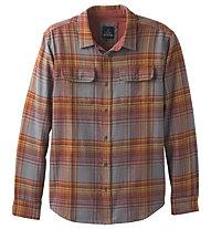 Prana Lybek Flannel Standard - Langarm-Hemd Freizeit - Herren, Orange/Grey