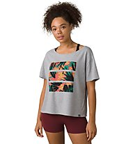 Prana Organic Graphic Tee - T-Shirt - Damen, Grey