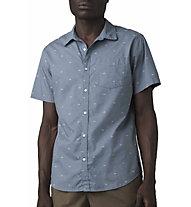 Prana Salerno Slim - camicia a maniche corte - uomo, Light Blue