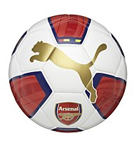 Puma Arsenal Fanwear Ball pallone da calcio, White/H. R. Red/Gold/E. Blue