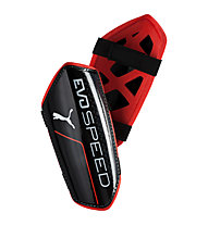 Puma Evo Speed 5.5 - parastinchi da calcio, Black/Red