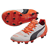 Puma evoPOWER 2.2 FG, White/T. Eclipse/F. Coral