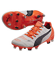 Puma evoPOWER 2.2 Mixed SG, White/T. Eclipse/F. Coral