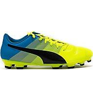 Puma EvoPower 4.3 AG Scarpa calcio, Light Yellow/Blue/Black