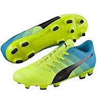 Puma EvoPower 4.3 FG Jr. - Kinder-Fußballschuhe, Light Yellow/Black