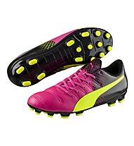 Puma evoPower 4.3 Tricks AG - scarpe da calcio, Pink/Yellow