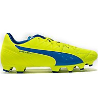 Puma EvoSpeed 3.4 Lth FG - Fußballschuhe, Light Yellow/Light Blue