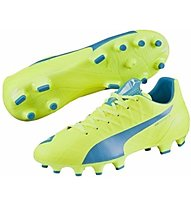 Puma EvoSpeed 4.4 FG - Fußballschuhe, Light Yellow/Dark Blue