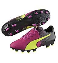 Puma EvoSpeed 4.5 Tricks FG - Fußballschuhe, Pink/Yellow