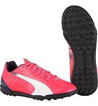 Puma EvoSpeed 5.3 TF Jr - scarpa da calcio bambino, White