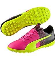 Puma evoSpeed 5.5 Tricks Turf - scarpe da calcio, Pink/Yellow