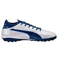 Puma evoTouch 1 TT - scarpe da calcio terreni duri, White/Blue