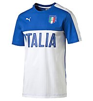 Puma FIGC Italia Graphic Tee, White/Dark Blue