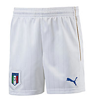 Puma FIGC Italia Kids Shorts pantaloncini da calcio bambino, White