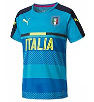 Puma FIGC Italia Training Jersey - Trainingstrikot, Blue/Yellow