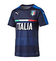 Puma FIGC Kids Italia Training Jersey - Fußballshirt Kinder, Black/Dark Blue