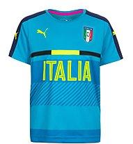 Puma FIGC Kids Italia Training - Kinderfußballtrikot, Blue/Yellow