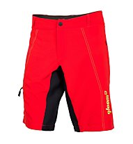 Qloom Pantaloni bici MTB Counterburry, Rubin Red