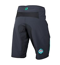 Qloom Manly Shorts Damen MTB-Radhose, Black