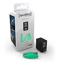 Knog Qudos Action Battery Pack - Accessorio action cam, Black/Green