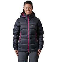 Rab Ascent - giacca in piuma con cappuccio - donna, Grey