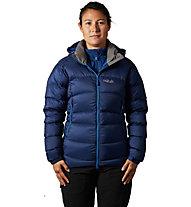 Rab Ascent - giacca in piuma con cappuccio - donna, Blue