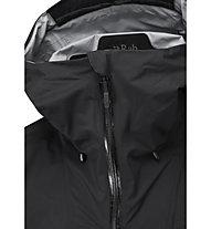 Rab Downpour Plus 2.0 JKT - giacca trekking con cappuccio - uomo, Black