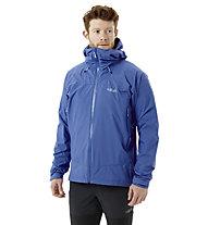 Rab Downpour Plus 2.0 JKT - giacca trekking con cappuccio - uomo, Blue