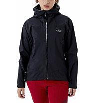 Rab Downpour Plus 2.0 JKT WMNS - Wandernjacke - Damen, Black