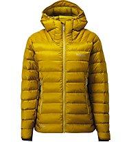 Rab Electron - giacca in piuma con cappuccio - donna, Yellow