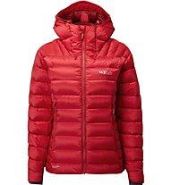 Rab Electron - giacca in piuma con cappuccio - donna, Red