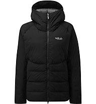 Rab Infinity Light - giacca in piuma con cappuccio - donna, Black
