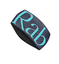 Rab Knitted Logo - Stirnband, Grey/Light Blue