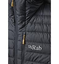 Rab Microlight Alpine - Isolationsjacke mit Kapuze - Herren, Dark Grey/Yellow